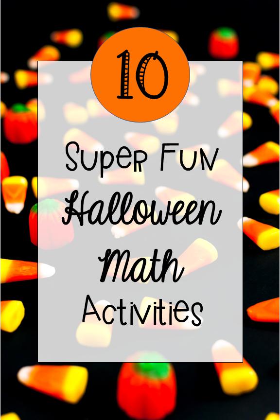 10 halloween math activities