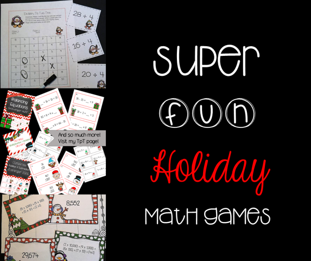 holiday math games