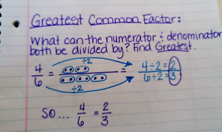 simplify fractions gfc