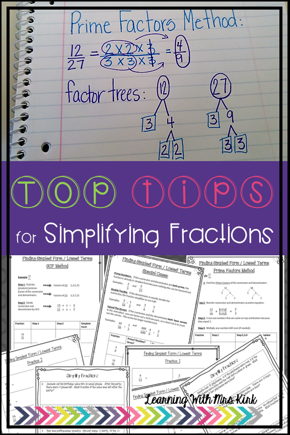 top tips simplify fractions
