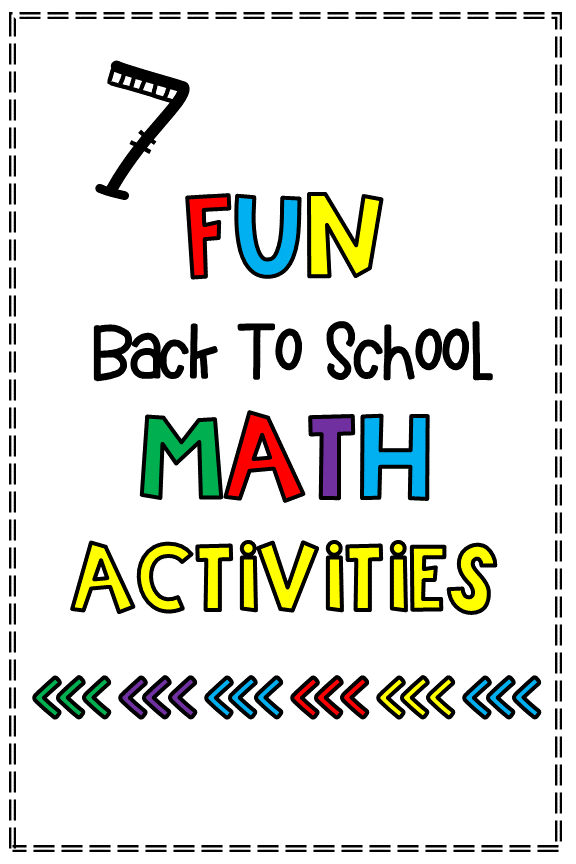 7 Fun Math Activities for Back to School |