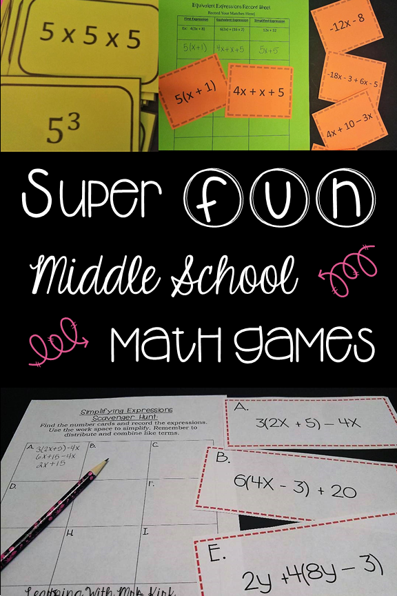 middle school math games